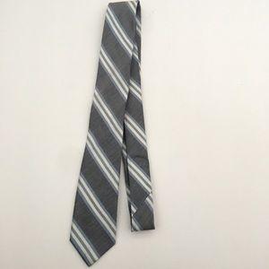 J. Crew Handmade Grey Blue Stripe Necktie